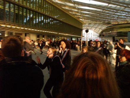 Inauguration au Forum des Halles